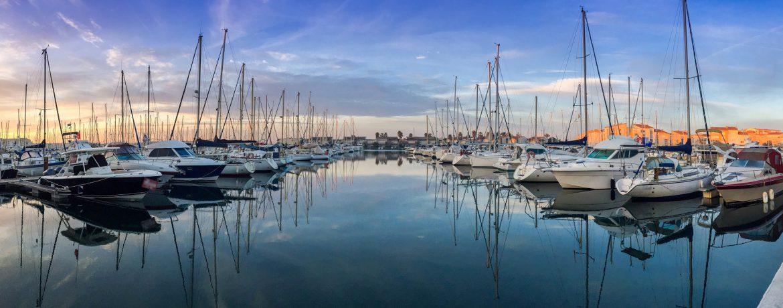 Paysage du port d'Agde